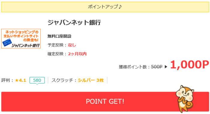 ジャパンネット銀行開設で稼ぐ方法